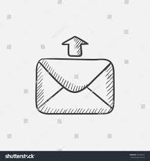 sending email sketch icon web mobile stock vector 464108318