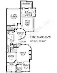 Narrow House Plans by Forest Oaks Narrow House Plans Luxury House Plans