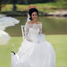 aliexpress com buy country style boat neck wedding dress with