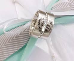 maine wedding bands brent jess fingerprint wedding bands weddings and wedding
