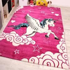 pink unicorn rug mat animal horse pony modern carpet kids