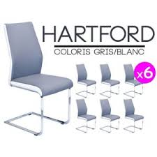 chaise pas cher lot de 6 lot de 6 chaises grises maison design wiblia com