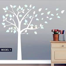 White Tree Wall Decal For Nursery Tree Wall Decals For Bedroom Serviette Club