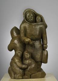 Inuit Soapstone Sculpture The End Inuit And Vikings Soapstone Sculpture By A Ruben