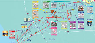 Zip Code Los Angeles Map by Map Of Things To Do In Los Angeles Indiana Map