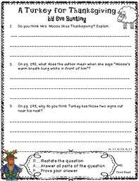 turkey for thanksgiving reading 2nd grade reading unit