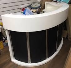 White Curved Reception Desk Curved Reception Desk Ebay