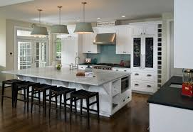 Dark Kitchen Island Luxury Style Kitchen Design With Dark Island And White Cabinet
