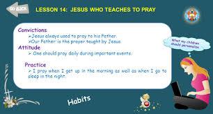 std i god the creator lesson 14 jesus prays activity let us sing 2