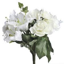 artificial cream white lily and gardenia bouquet corsage