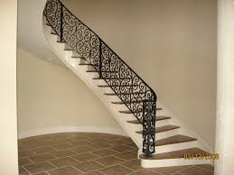 Wrought Iron Banister Rails Decor U0026 Tips Curved Staicaes And Wrought Iron Railing With Iron