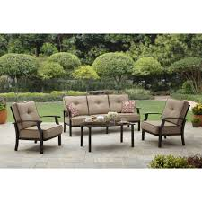 Patio Furniture Sets With Fire Pit by Mainstays Ragan Meadow Ii 7 Piece Outdoor Sectional Sofa Seats 5