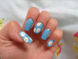 diy easy daisy nails dotticure daisies flower nail art design
