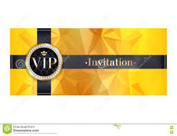 Vip Invitation Cards Vip Invitation Card Premium Design Template Vector Illustration