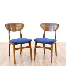 Dining Room Accent Chairs by Pair Of Mid Century Modern Cherry Accent Chairs Retro Dining