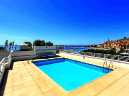 swimming pool minimalist rectangle small modern rooftop pool