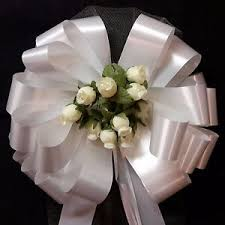 Pew Decorations For Weddings 6 White Pull Pew Bows Canary Yellow Rosebuds Tulle Church Wedding