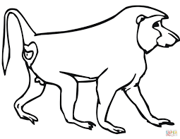 coloring download baboon coloring pages baboon coloring pages