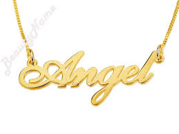 Name Plates Jewelry 24k Gold Plated Nameplate Necklace Personalized Chain Name Plate
