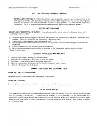 Machine Operator Job Description 100 Sample Resume Of Construction Laborer Junior Project