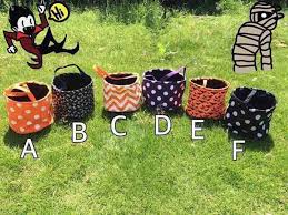 Halloween Buckets Wholesale Blanks New Designs Stripe Halloween Buckets Halloween