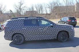 volkswagen suv 3 rows 2018 subaru ascent 3 row crossover suv spied in detail autoevolution