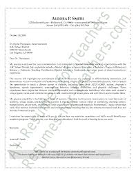 Resumes For Teachers Examples by Special Education Cover Letter Sample Cover Letter Sample