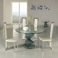 small glass kitchen table small glass dining table contemporary superb with white chairs for