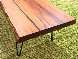 live edge table with turquoise inlay solid mesquite artisan made coffee table with live edge and
