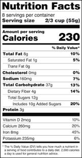 3 e bureau label nutrition facts label