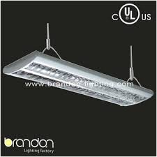 Hanging Fluorescent Light Fixtures by Ul 4ft 4x28w T5 Indoor Grille Office Hanging Light Fixture With