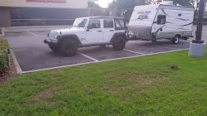jeep wrangler towing travel trailer youtube
