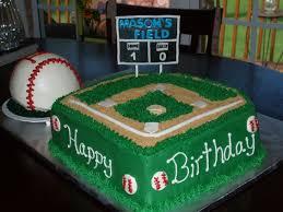 baseball field birthday cake baseball field with baseball smash