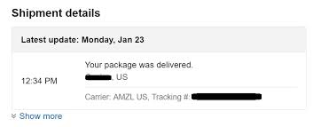 amzl us ships products using their own shipping carrier