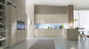 contemporary kitchen wooden lacquered high gloss system