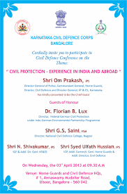 the karnataka civil defence bangalore conference workshop on