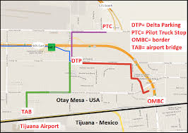 San Diego Airport Terminal Map by Truck Parking Otay Mesa Border Crossing 12 Day Open 24 7