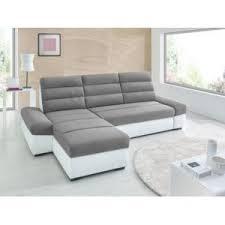 canapé lit tissu sofa canapé lit de 4 places convertible tissu gris 88cm