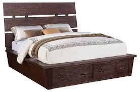 riverside furniture promenade king platform storage bed with 2