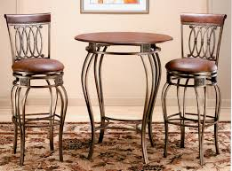 bar top table and chairs bar height pub table and chairs