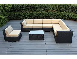 amazon com ohana 8 piece outdoor wicker patio furniture sectional