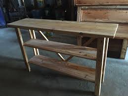 Pine Table Hand Crafted Reclaimed Heart Pine Sofa Table By Saw Mark Funiture