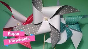 Pinwheel Decorations How To Make Paper Pinwheel Decorations Youtube