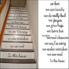 in this house rules family we love stair riser stickers decals