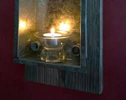 Galvanized Wall Sconce Tin Wall Sconce Etsy