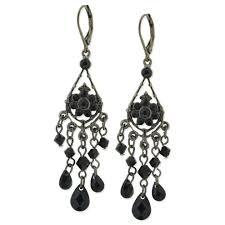womens earrings technibond oval gemstone chandelier drop earrings echicwell