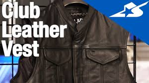 motorcycle vest club leather vest by black brand motorcycle superstore youtube