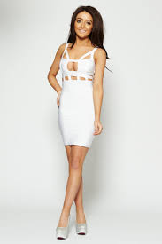 white bodycon dress white caged strappy bodycon dress clothing from dollywood