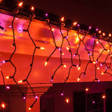 Led Lights Halloween Christmas Icicle Light 150 Purple Orange Halloween Icicle