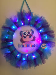 Halloween Tulle Wreath by Scrappy Chic Creations Cutie Pie Monster Wreath